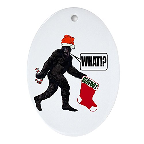 CafePress - WHAT! Bigfoot - Big Stocking! Oval Ornament - Oval Holiday Christmas Ornament