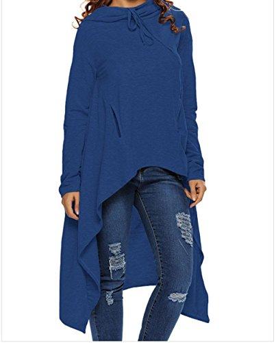 Navy Seal Embroidered Sweatshirt (YeeATZ High-low Plain Drawstring Irregular Oversize Hoodie Tops)