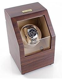Battery Powered Single Watch Winder in Walnut