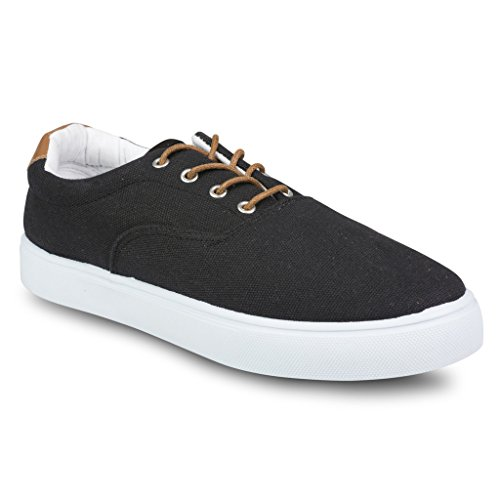 Influence-Mens-Nevel-Canvas-and-Faux-Leather-Fashion-Oxford-Sneaker