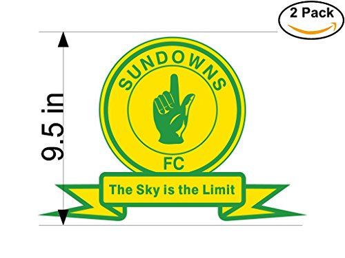 fan products of Mamelodi Sundowns South Africa Soccer Football Club FC 2 Stickers Car Bumper Window Sticker Decal Huge 9.5 inches