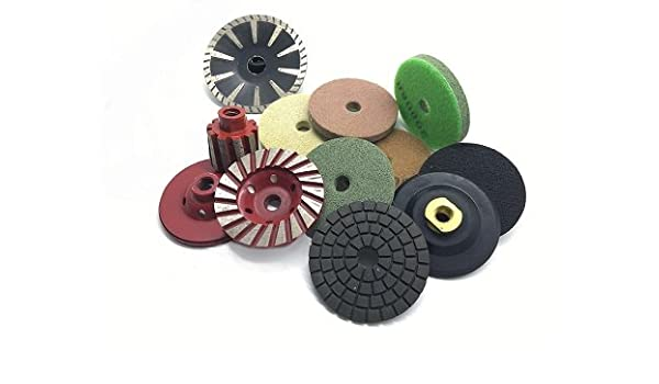 "8 pcs 3/""  Convex diamond polishing pad//pads set"