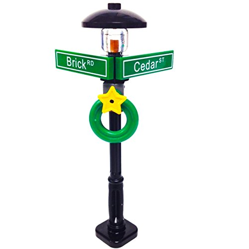 Lego MinifigurePack: Holiday City/Town Street Sign and Lamp Post