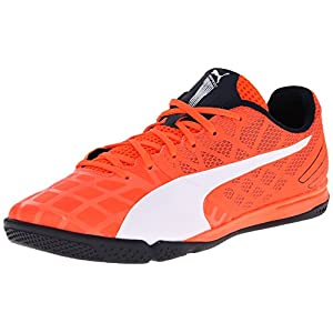 PUMA Men's Evospeed Sala 3.4 Soccer Shoe, Lava Blast/White/Total Eclipse, 9 M US