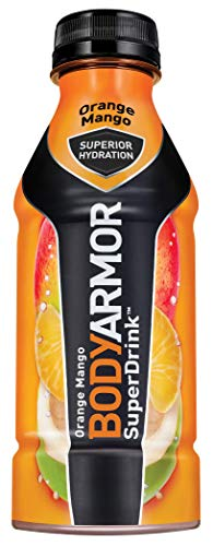BODYARMOR Sports Drink Sports Beverage, Orange Mango, 16 Fl Oz (Pack of 12), Natural Flavors With Vitamins, Potassium-Packed Electrolytes, No Preservatives, Perfect For Athletes ()