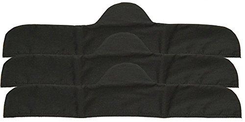 3-Pack Bra Liners in BLACK (30'' XLarge - For Bra: 42-46) by Curvy Corner Plus