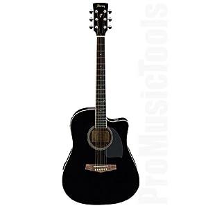 Ibanez PF15ECE-BK Elektroakustische Gitarre, Schwarz