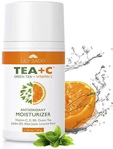 Antioxidant Best Moisturizer - LILY SADO Green Tea and Vitamin C Face Moisturizer Cream - Antioxidant, Anti-Wrinkle Natural Facial Moisturizing Lotion for Women & Men - Softens, Hydrates, Revitalizes, Firms & Tones for Amazing Skin
