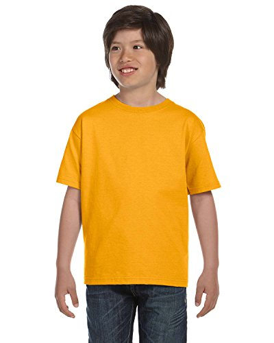 Fruit of the Loom Youth 100% Cotton Lofteez HD T-Shirt, Large, Gold