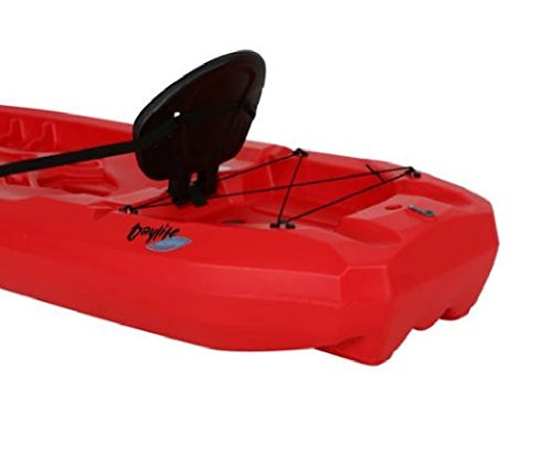 Lightweight Kayak Hard Shell with Paddle for Kids, Large Adult & Dog. Canoe Boat Hardshell 8 Ft Adjustable Seat & Storage Compartment. Recreational 38 Pound to Fishing any Saltwater Ocean River Lake by Lifetime Hard Shell Kayak (Image #3)