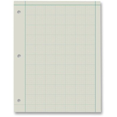 Ampad Green Tint Engineers Quadrille Pad - 200 Sheet - 15 lb - Ruled - Letter 8.50quot; x 11quot; - Green Tint Paper by - Ampad Green Tint Engineer Pads