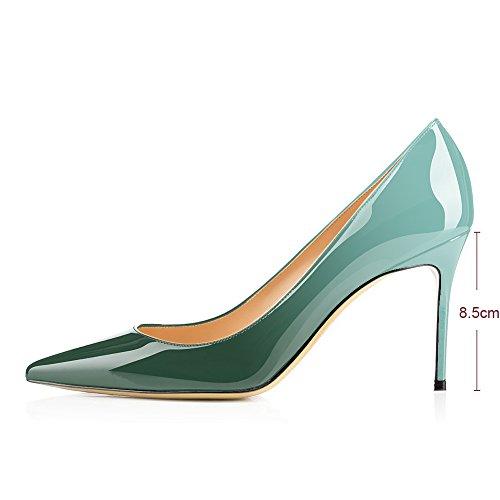 Pumput Teräväkärkiset Modemoven Korkokengät Toimiston Slip Kengät Emerald on 85mm Liiketoimintaan Naisten Stiletto Seksikäs wgwxqt5rB