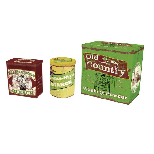 Ohio Wholesale Laundry Collection Vintage Laundry Tins, Set of 3