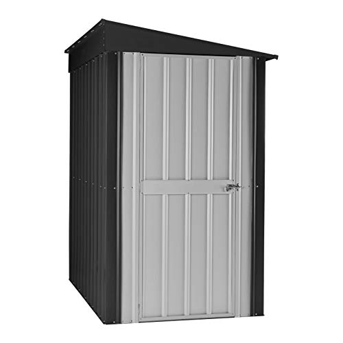 Lean To Sheds - Globel GL4009 Lean-to Storage Shed, 4' x 8' Gray, White