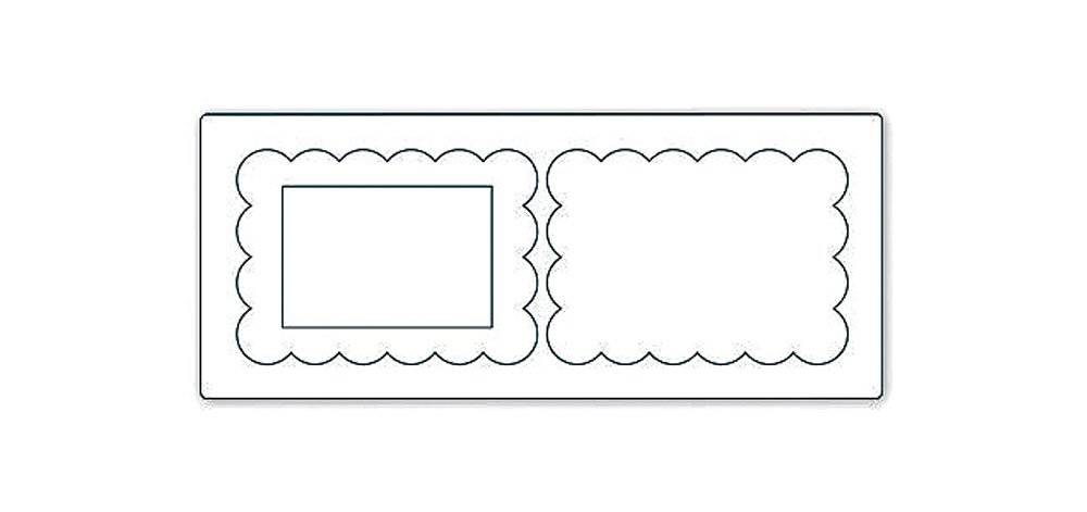 Sizzix - Troquel Bigz XL - Para realizar portaretratos (frente y reverso) para fotografías en fieltro, piel, cartón - Diseño para modelos Big Sho, ...