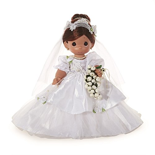 Precious Moments Dolls by The Doll Maker, Linda Rick, I Do, Bride, Brunette, 12 inch Doll - Vinyl Precious Moments Doll