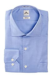 Peter Millar Nanoluxe Long Sleeve Regular Fit Solid Dress Shirt-Size 17.5