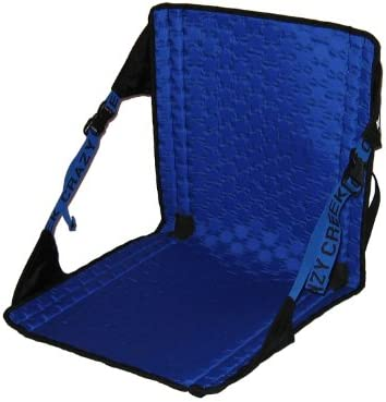 Crazy Creek Products Hex 2.0 Original Chair Black Royal Blue – Lightweight Packable Camp Chair for Hiking, Backpacking, Camping, Boating Stadium Use