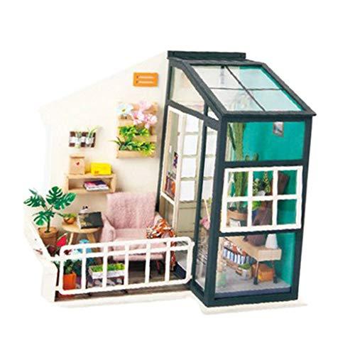 - NATFUR 1:24 Dollhouse Miniature DIY Prince Doll House Kits Lounge Room Kids Toys