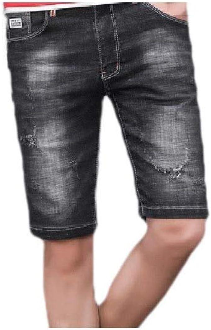 VITryst 男性は、伸縮性のある固体ポケットスタイリッシュな薄い夏のジーンズショートパンツを苦しめた