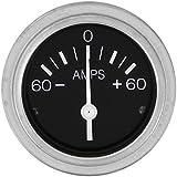 "Sierra International 80710P Heavy Duty Direct Reading 60 Amp Ammeter for InBoard & Diesel Engines, 2"""