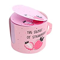 Cupcinu Sticky Notes Book of Sticky Notes Notepad Collection Round Sticky Notes for Easy Access Size 6×6×5cm (Pink)