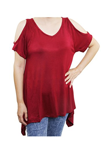 Lofbaz Mujer Camiseta con tirantes de hombro Design #1 Rojo