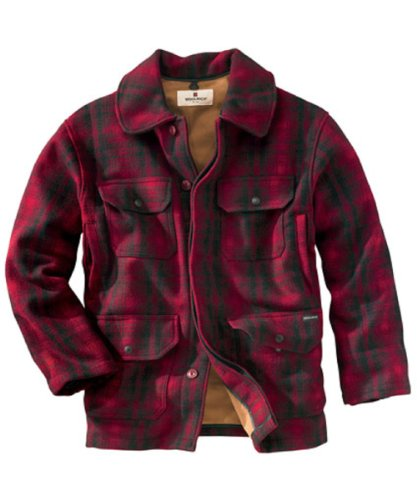 Woolrich Men's Classic Hunt Coat, Red Black Plaid, XX-Large