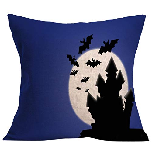 Bolayu Fashion 4545cm Halloween Sofa Bed Home Decor Pillow Case Cushion Cover (Multi 35)