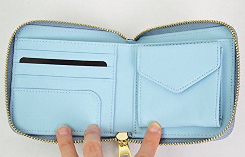 Leather Wallet Women's PU Lightblue Ladies Hangbags Purse Casual Fashion tAZAwq7