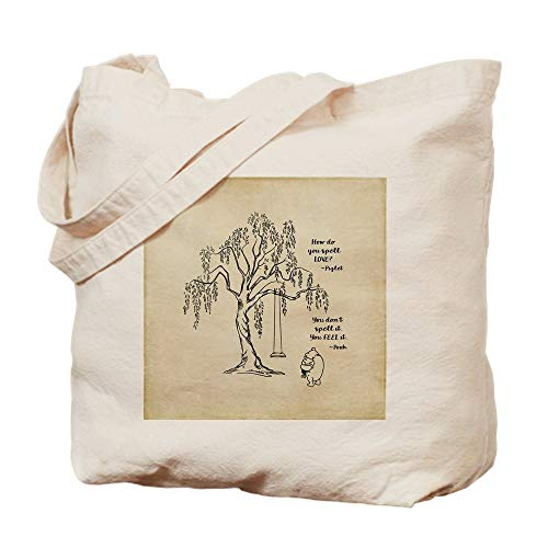 How Do You Spell Halloween (CafePress Winnie The Pooh ~ How Do You Spell Love? Natural Canvas Tote Bag, Reusable Shopping)