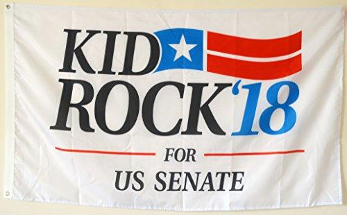 (2But Kid Rock for US Senate 2018 Banner Flag 3X5 Feet)