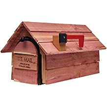 Gibraltar Mailboxes Cedar Chalet Medium Capacity Aromatic Cedar Wood, Post-Mount Mailbox, CC2R0000