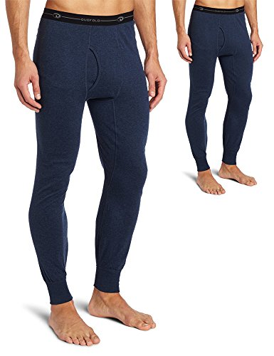 Duofold KMO3 Men's Mid Weight Double Layer Thermal Pant XL Blue Jean - 2 Pack
