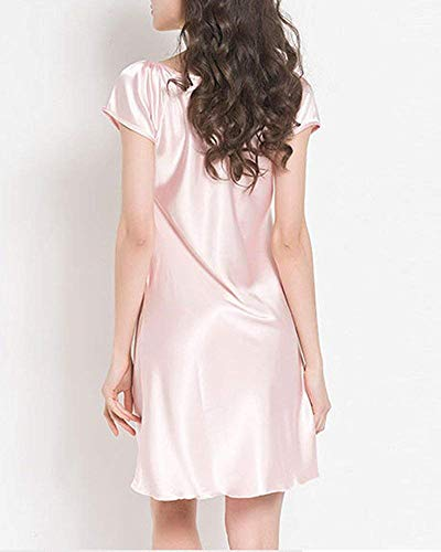 Courtes Rose Pyjama Nuit De Medium D'été Manches Grande Taille Femme shtrdQ