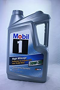 Mobil 1 high mileage advanced full synthetic for What s the difference between 5w30 and 10w30 motor oil