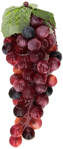 Flora Bunda FT-2253 Red13 Artificial Grapes- 12 Bunch Bunch Of Grapes