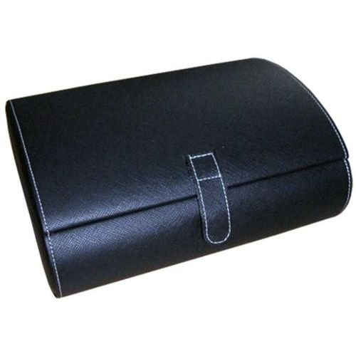 Mele & Co. Parker Faux Leather Watch Case in Black by Mele & Co.