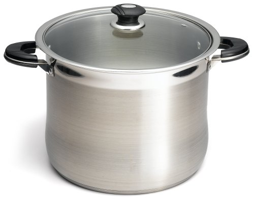 Prime Pacific 18/10 Stainless Steel 20 Quart Stock Pot With Glass Lid (Glasses Cooking Pot compare prices)