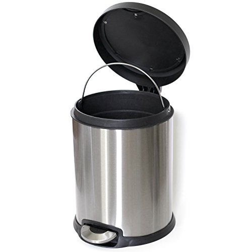 ToiletTree Products Stainless Steel Trash Can, 5 Liter by ToiletTree Products (Image #1)