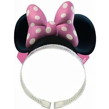 Disney Minnie Mouse diadema W/lazo fiesta de cumpleaños ...