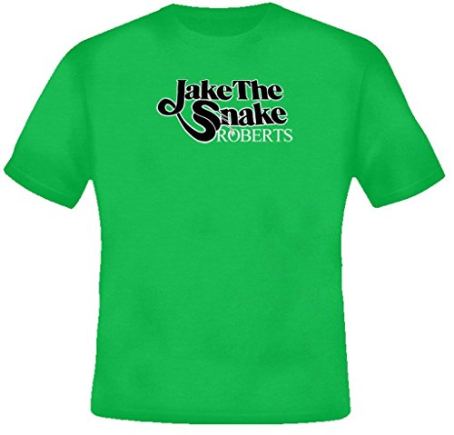Jake The Snake Roberts Retro Wrestling T Shirt XL Irish - Green Village Outlet