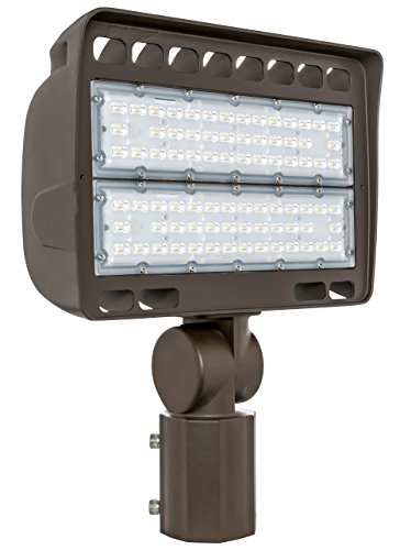 Westgate Lighting Outdoor LED Flood Light Fixture Slip Fitter Mount - Shoebox Street Area Parking Pole Security Floodlights - 120-277V - IP65 Waterproof UL Listed (150 Watt, 3000K Warm White)