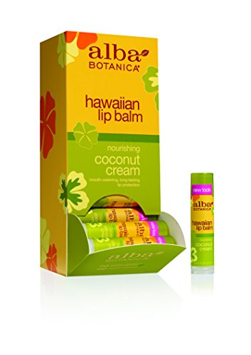 Cream Hawaiian Coconut Lip Gloss - Alba Botanica Coconut Cream Lip Balm, 0.15 oz
