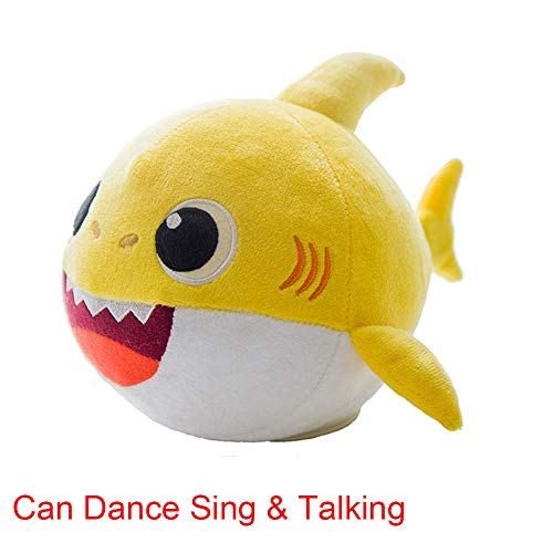 OMGOD Baby Shark Plush Toy, Baby Shark Dancing Doll, Can Dance Sing & Talking -- Repeats What You Say, Plush Interactive Toys Animated Plush Doll Present Gift for Baby & Toddler