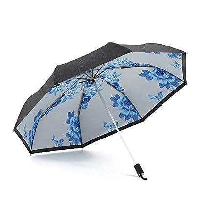 Paraguas plegable automatico Mujer niño Hombre an- Paraguas de Doble Capa doblada de la protección