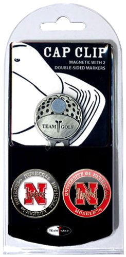 - Team Golf NCAA Nebraska Cornhuskers Golf Cap Clip with 2 Removable Double-Sided Enamel Magnetic Ball Markers, Attaches Easily to Hats