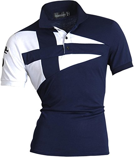 Moda U009 Uomo Fashion Sportivo Jeansian shirts Casuale Tatuaggio T Corta Manica navy D403 Polos Cime Men wBUIgq