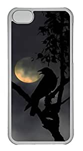 Brian114 iPhone 6 plus (5.5) Case, iPhone 6 plus (5.5) Cases - Cute iPhone 6 plus (5.5) Case Crow With Moon Hard Cases Customized PC Clear Covers for iPhone 6 plus (5.5)