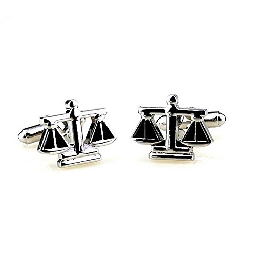 Hosaire Men's Cufflinks The Balance Cuff Link Delicate Cuff-link for Wedding Party Silver by Hosaire (Image #4)